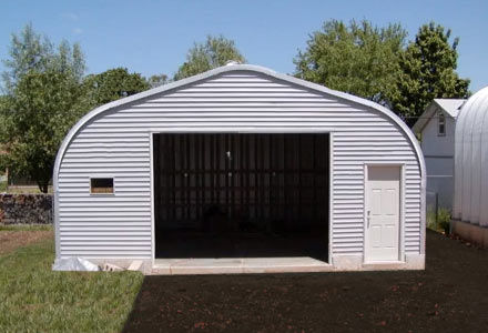 Quonset workshops diy quonset huts quonset canada for Garage building kits canada