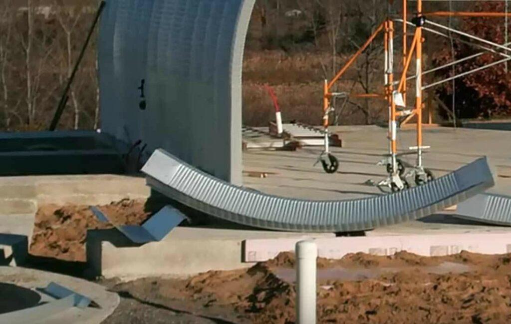 quonset construction panel